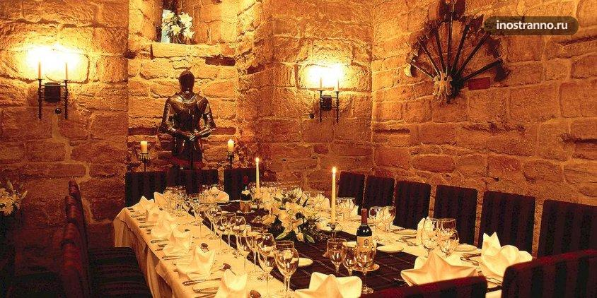 Отель в замке Англии Dalhousie Castle Hotel