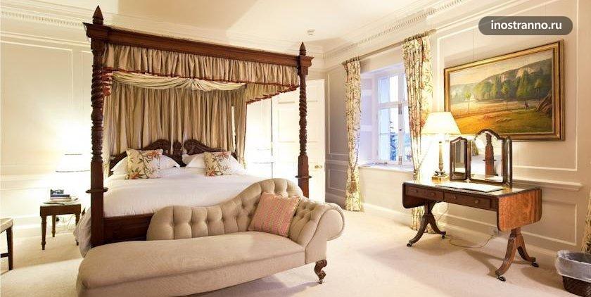 Номер в отеле замке Pentillie Castle and Estate