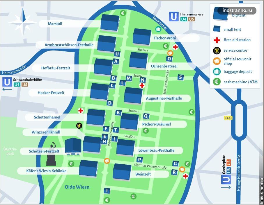 Октоберфест карта