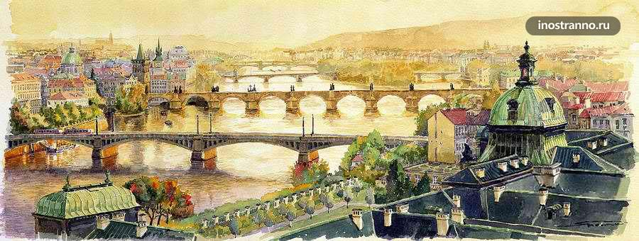 Картина мосты Праги