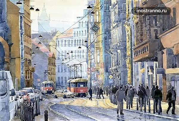 Водичкова улица в Праге