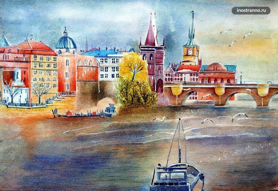 Прага и река Влтава