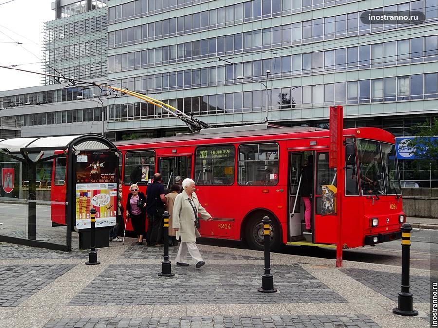 Троллейбус в Братиславе