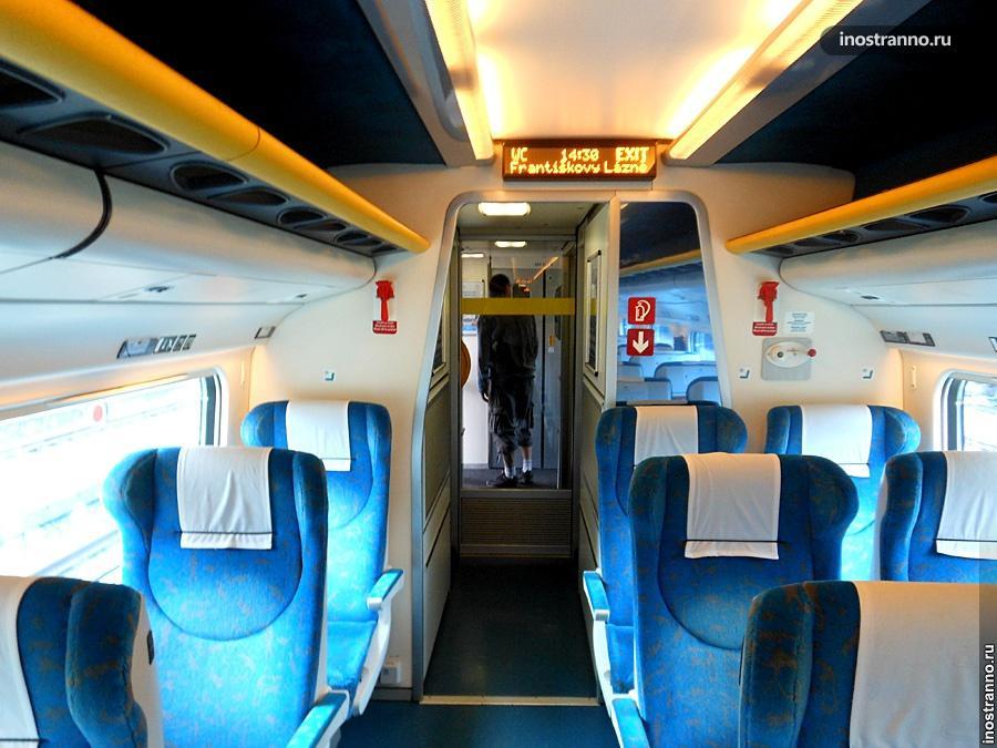 Чешский поезд и вагон