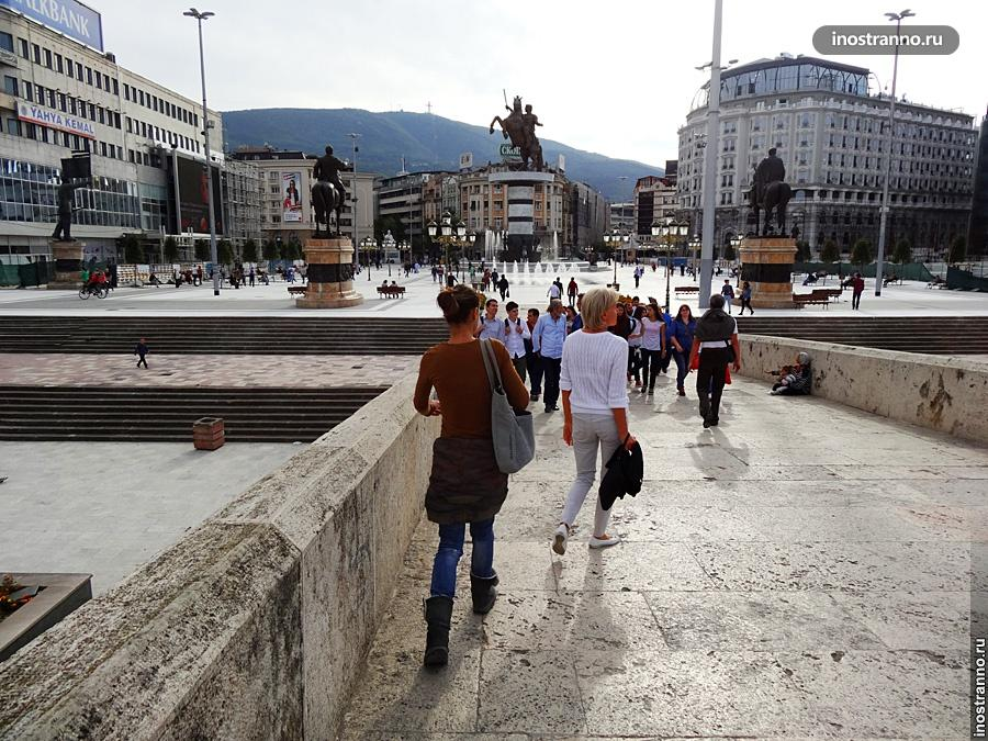 Главная площадь Скопье