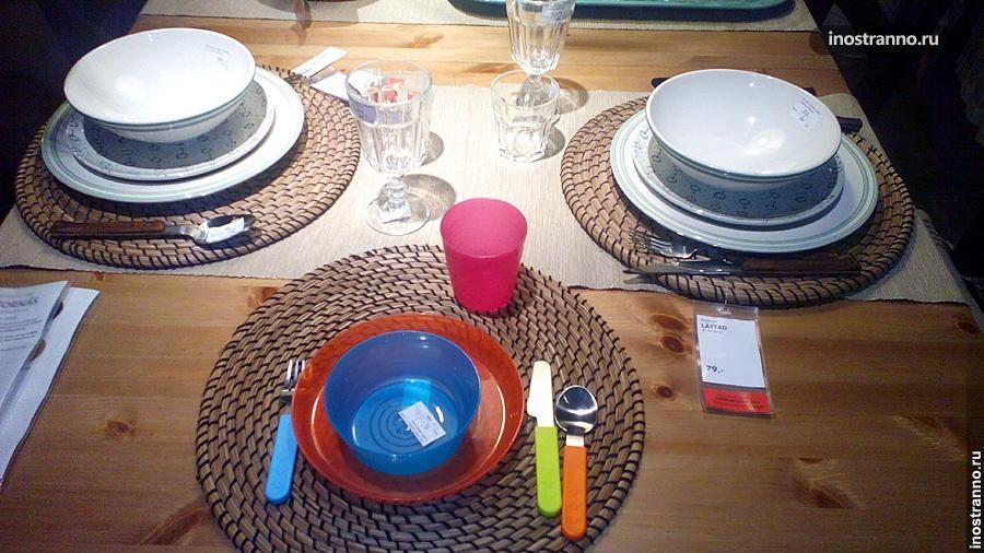 Столовая посуда в Икеа