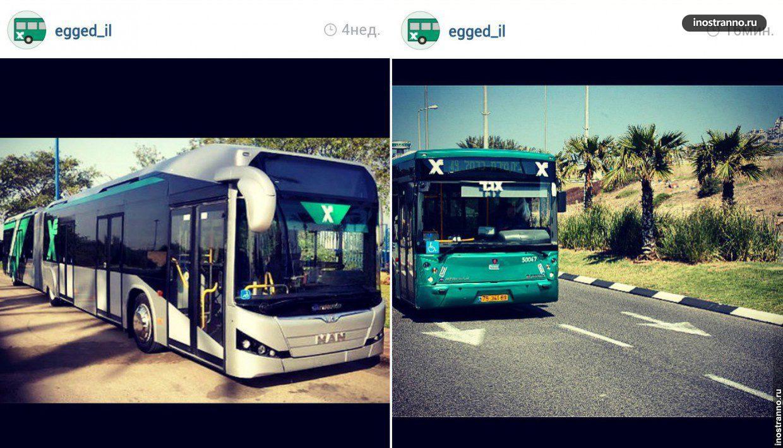 Автобус в Тель-Авиве