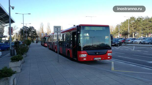 Автобус из аэропорта Братиславы в центр города