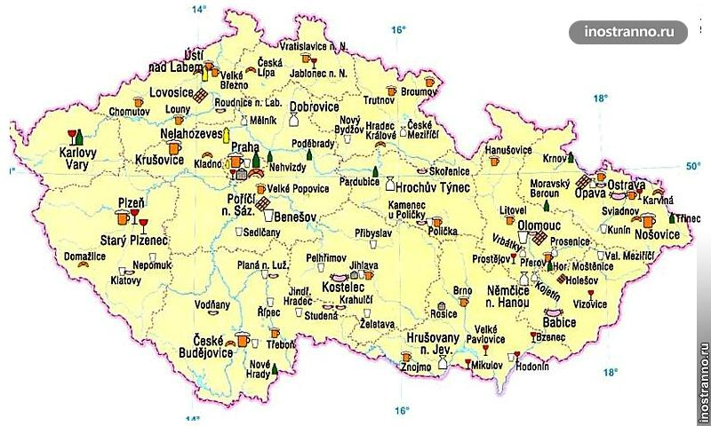 Растениеводство в Чехии карта