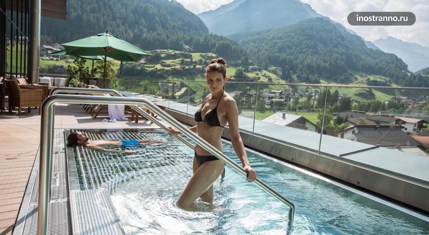 Отель в Альпах, Зельден, АвстрияBergland Hotel Solden