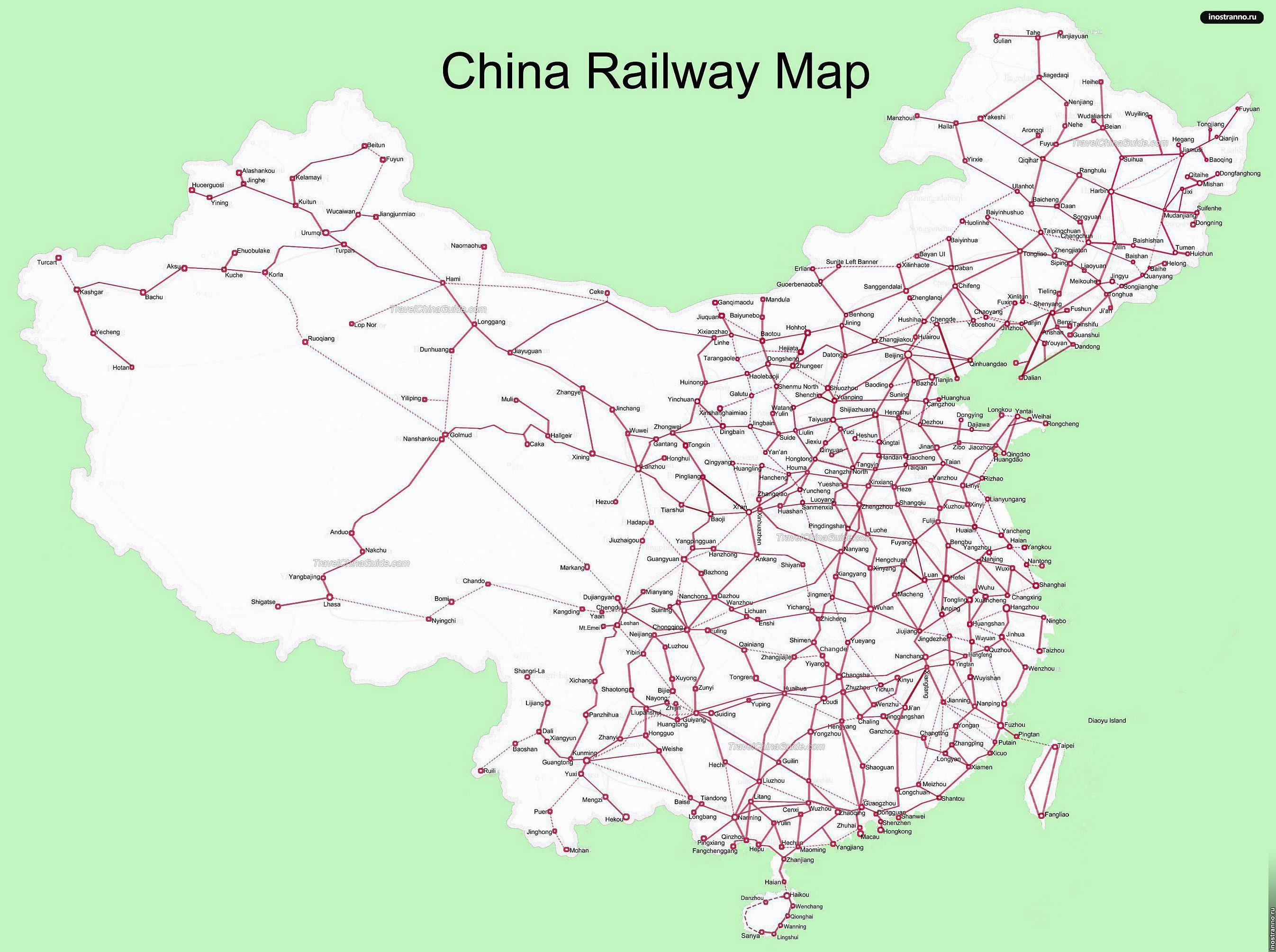 схема дорог поездов англии