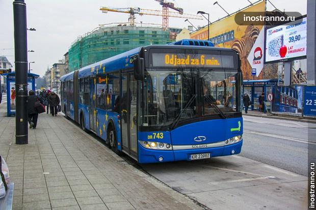Автобус в Варшаве