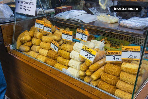 Сыр oscypek из Закопане в Польше