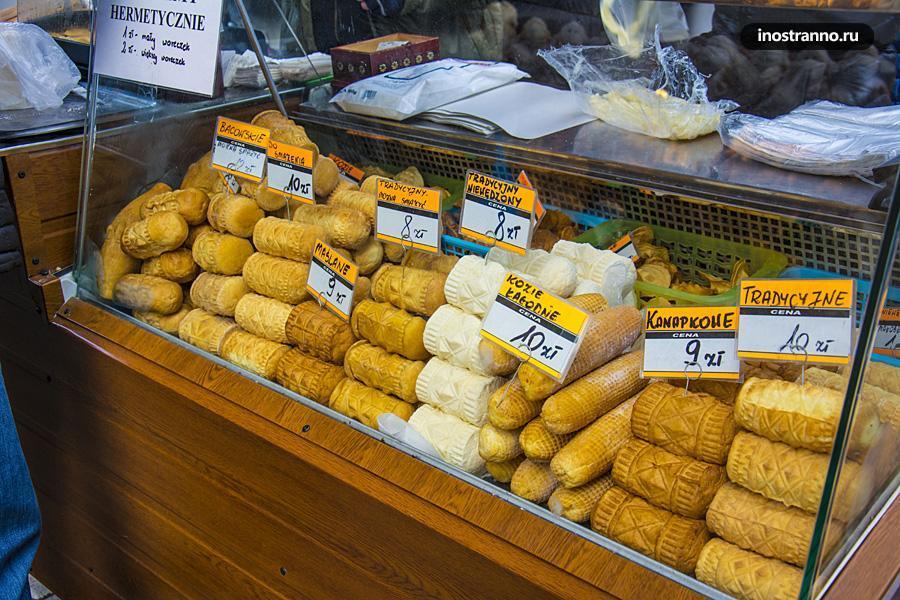 Сыр oscypek из Закопане, Польша