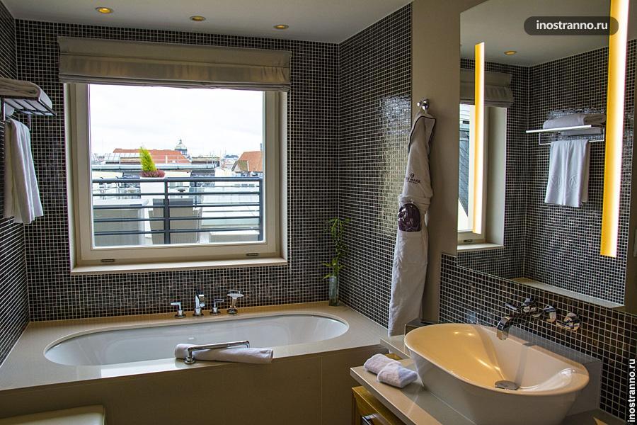 Ванная в отеле Праги 5 звезд