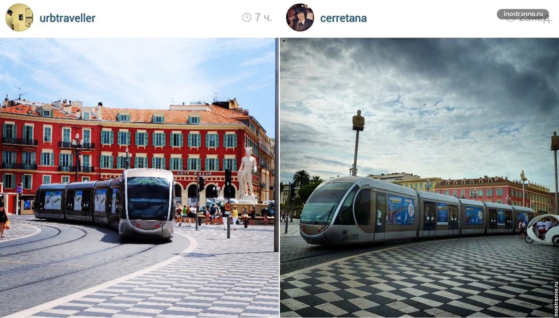 Трамвай в Ницце, Франция