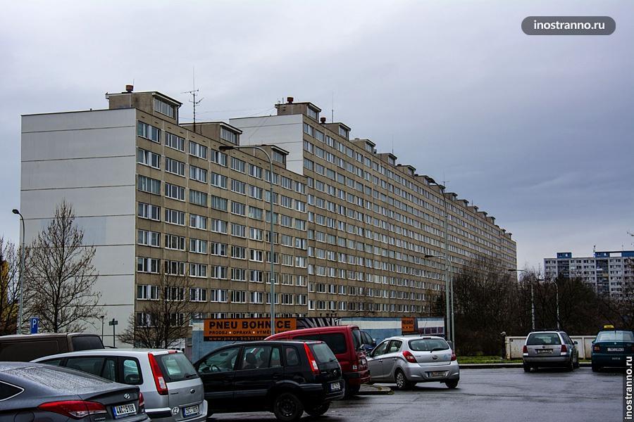 Самое длинное здание Праги