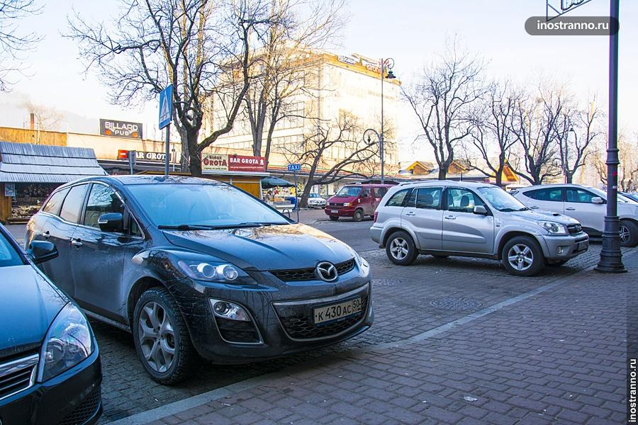 Автомобиль в Польше Закопане