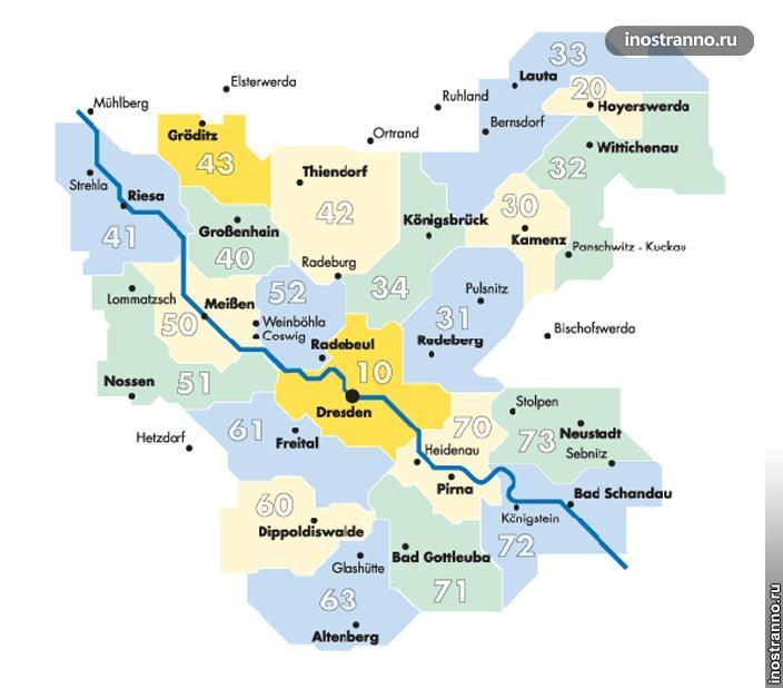 Дрезден транспорт тарифные зоны