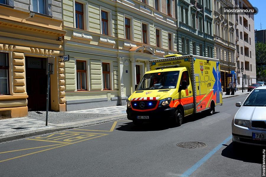Скорая помощь в Чехии