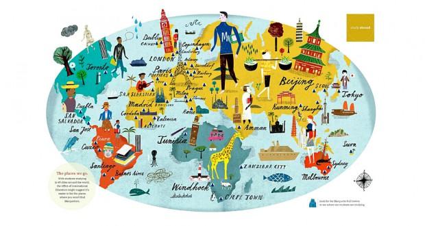 Карты с достопримечательностями стран мира