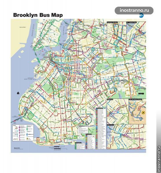 Карта автобусов Нью-Йорка, Бруклин