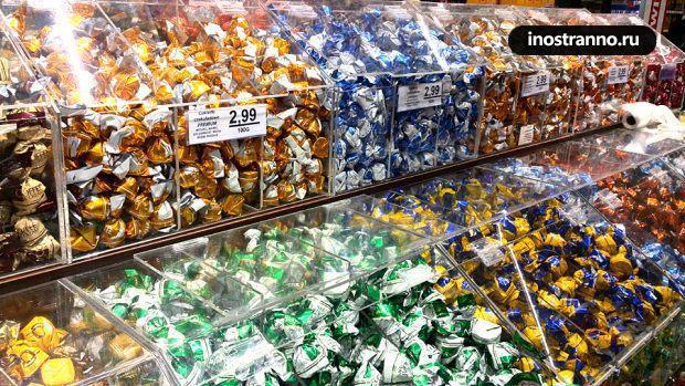 Шоколадные конфеты в Польше