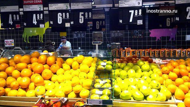 Цены на фрукты в Польше