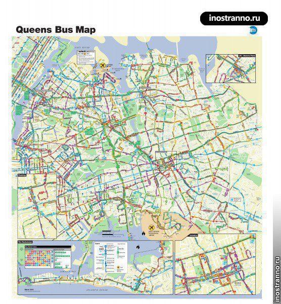 Карта автобусов Нью-Йорка, Квинс