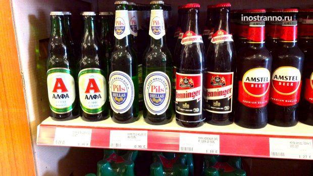 Цены на пиво и вино в Греции