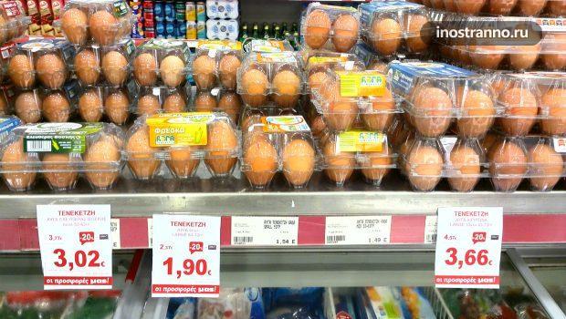 Цены на продукты в супермаркете в Греции