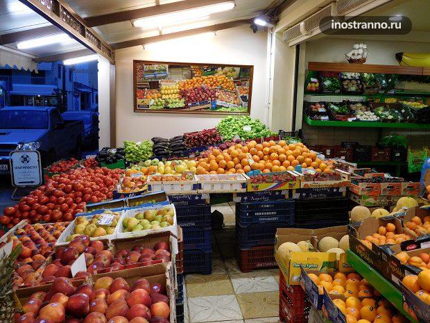 Цены на фрукты в Греции