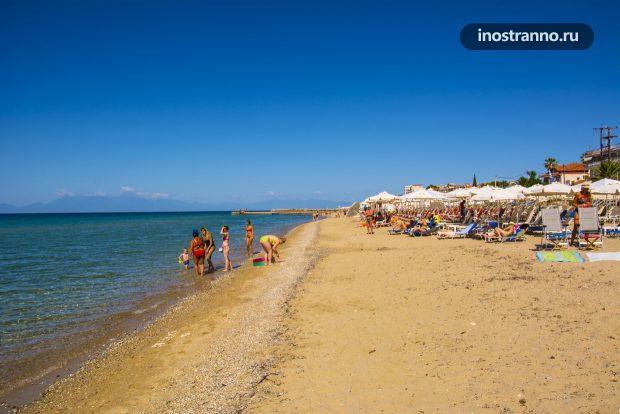 Пляж в Греции, Эгейское море