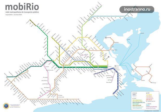Карта поездов в Рио-де-Жанейро