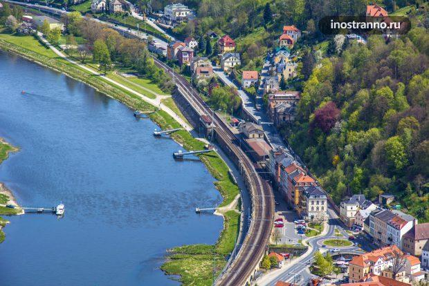 Река Эльба у Дрездена