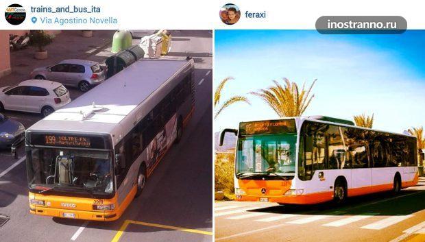 Автобус из аэропорта Неаполя
