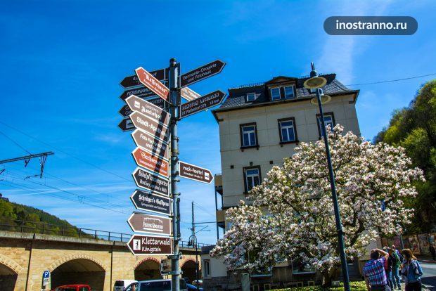 Саксонская Швейцария, Германия дорожные указатели