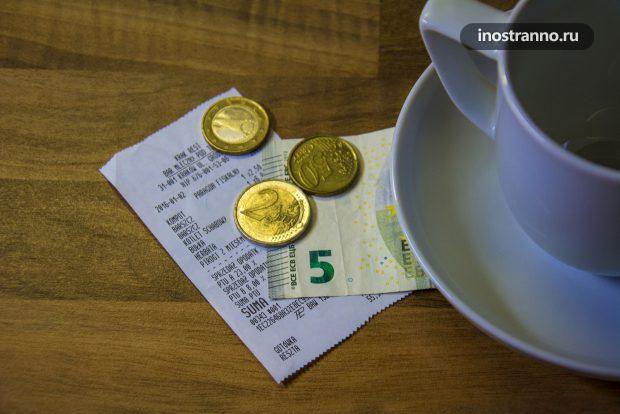 Чаевые в ресторане