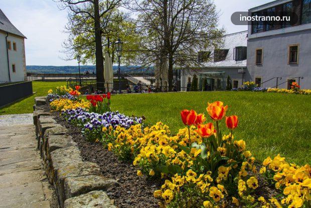 Погода в мае в замке Кёнигштайн, Германия