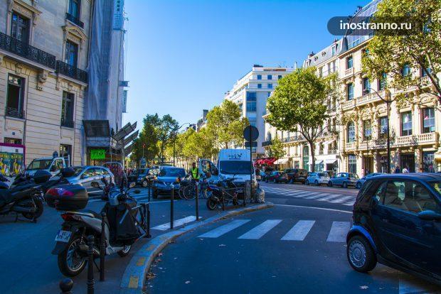 Пешеходный переход и улица Парижа