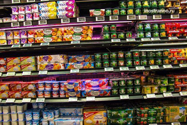 Цены на еду в Париже