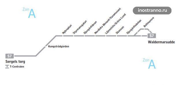Исторический трамвай в Стокгольме