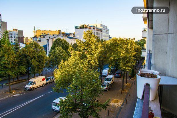 Вид из квартиры Парижа