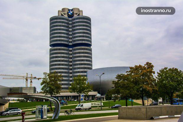 Здание музея БМВ в Мюнхене