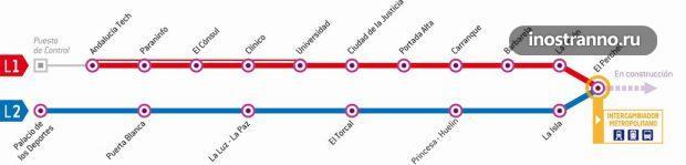 Карта метро Малаги