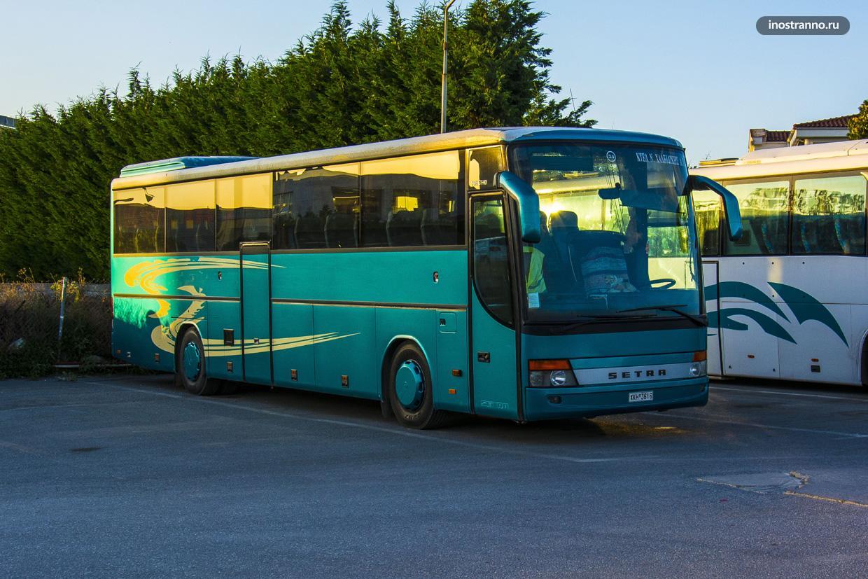 Автобус до Салоников из аэропорта