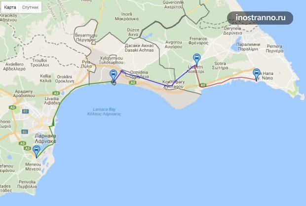 Как добраться из аэропорта Кипра до Айя Напа