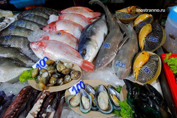 Свежая рыба в Таиланде
