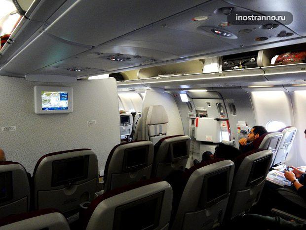 Аэробус эконом класса Катарских авиалиний