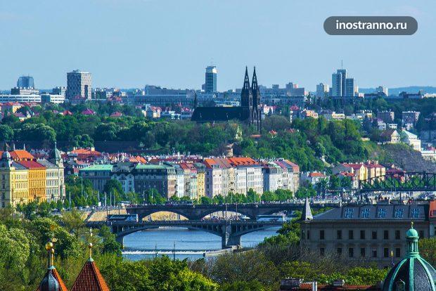 Вид на Вышеград в Праге
